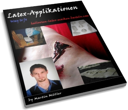 Latex-Applikationen; Gratis Ebook zum Halloween-Latex-Masken-Basteln